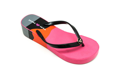 Klapki japonki pink/grey/orange DM