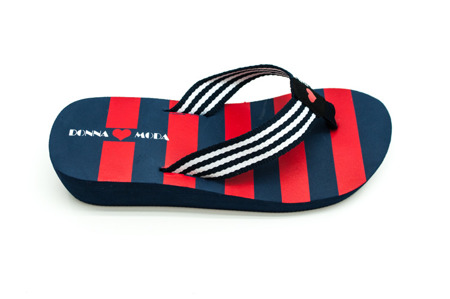 Klapki japonki red/navy DM