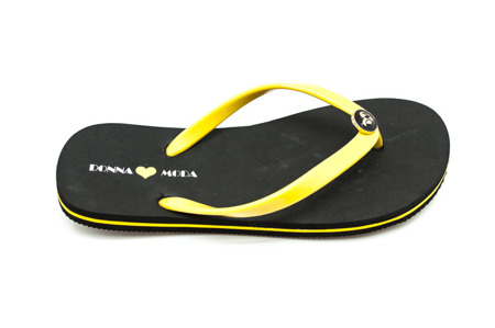 Klapki japonki yellow/black DM